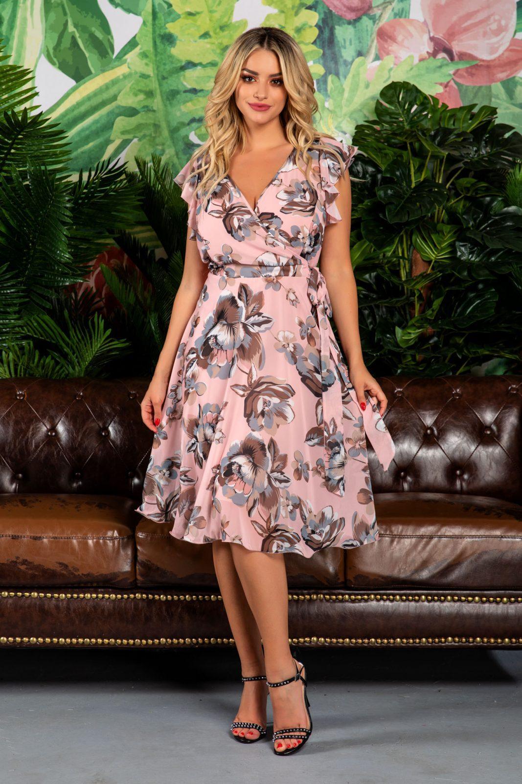 Heidy Pink Floral Dress