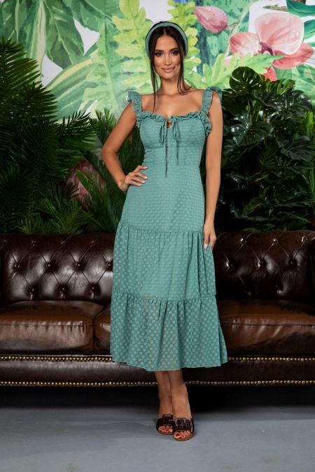 Romina Light Green Dress