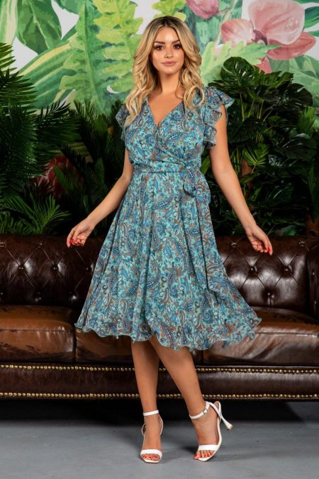 Heidy Mint Multi Dress