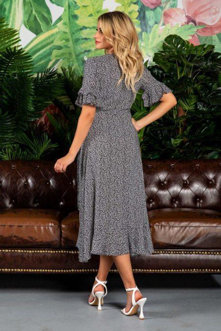 Μαύρο Φόρεμα Με Βολάν Molly 7803