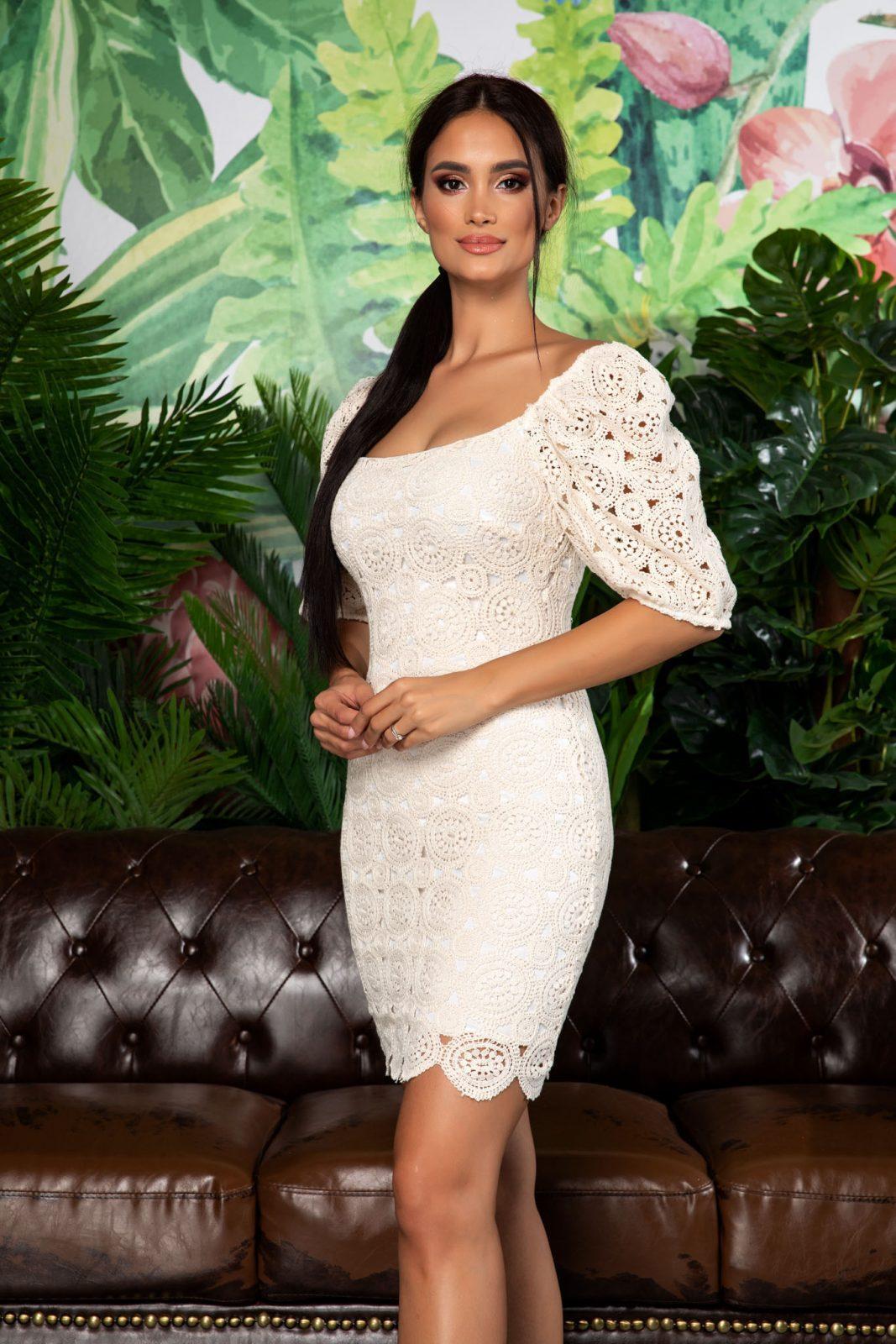 Mini Φόρεμα Με Φουσκωτά Μανίκια Clarisa 7875