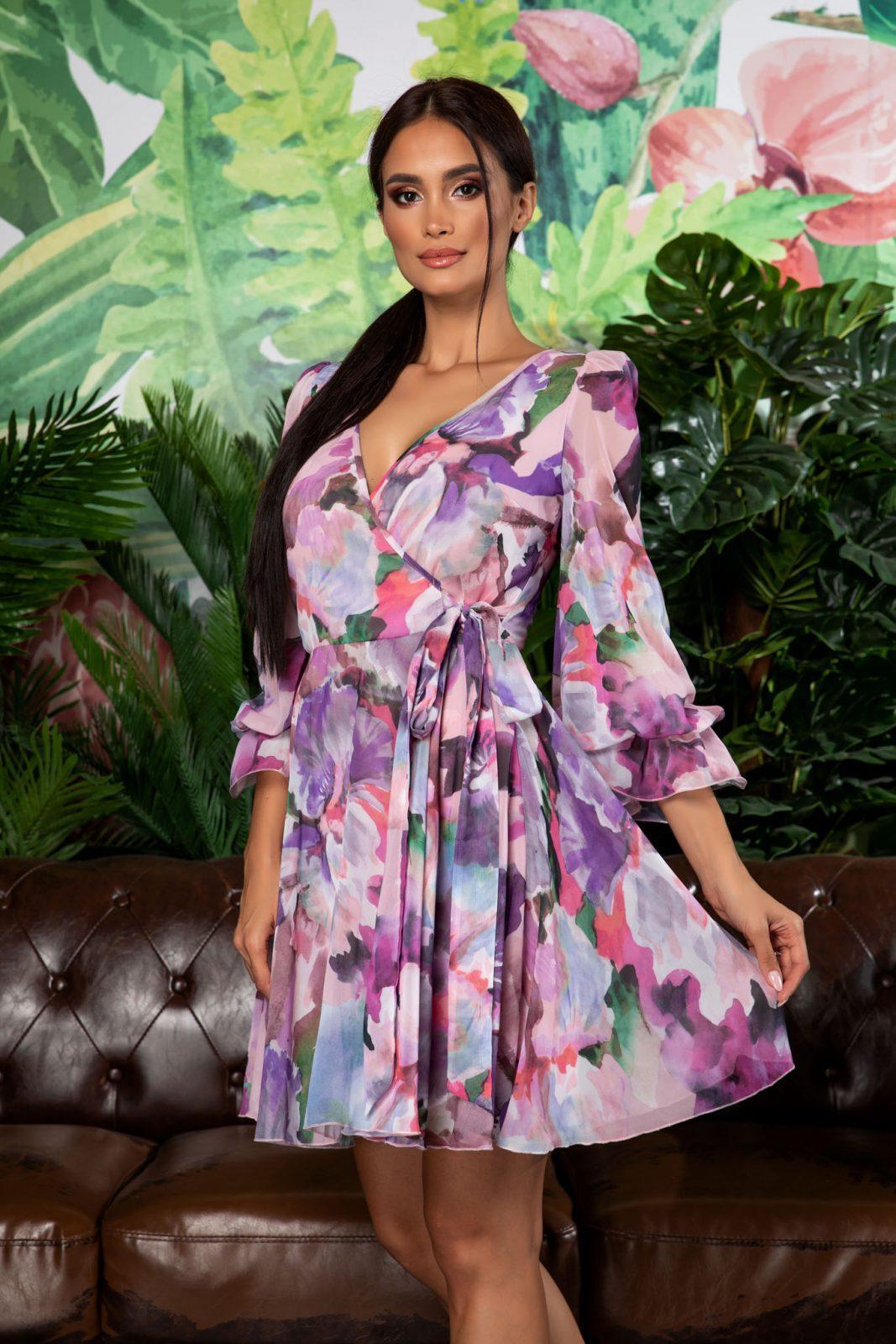 Πολύχρωμο Φόρεμα Simin 7931
