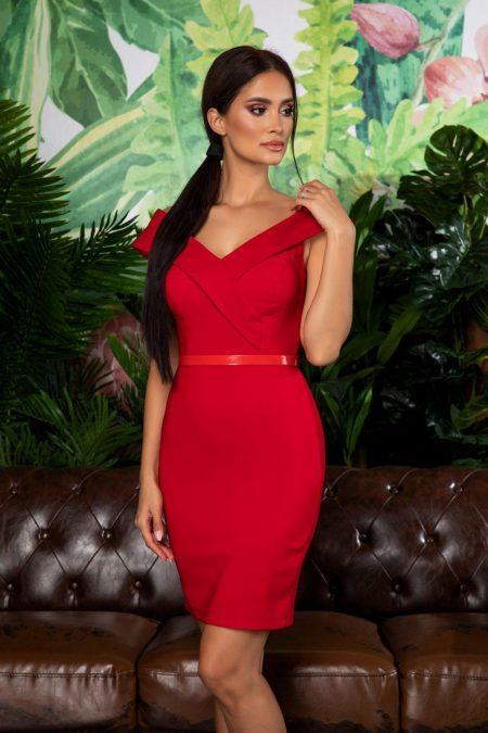 Edwina Red Dress