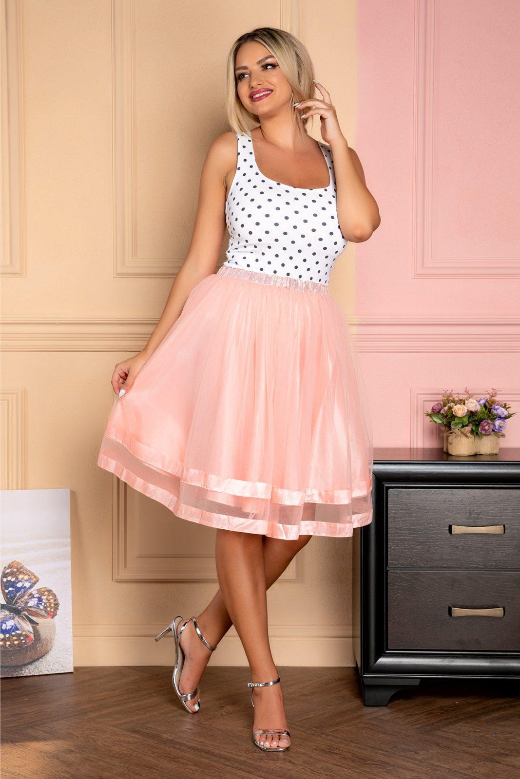 Monika Peach Skirt
