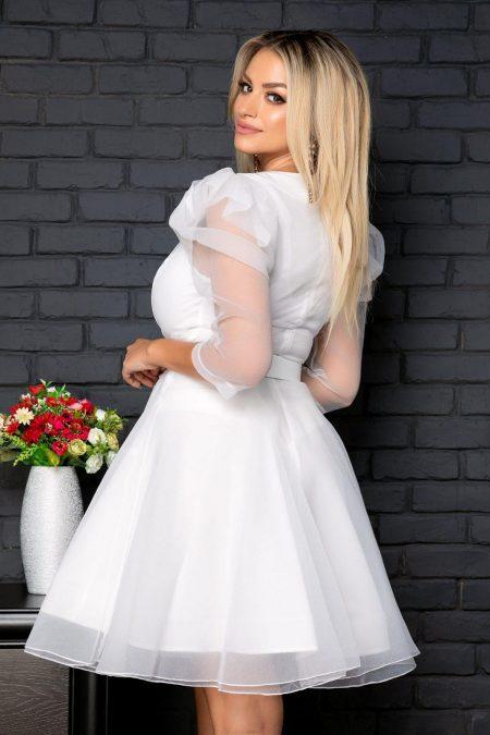 Λευκό Βραδινό Φόρεμα Beatrice 7960