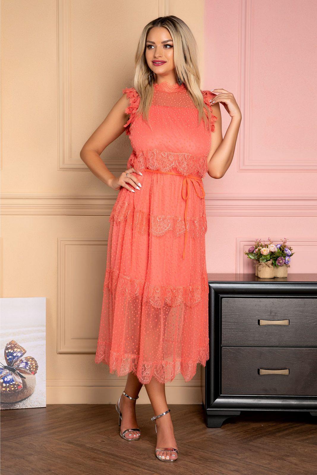 Wendy Coral Dress