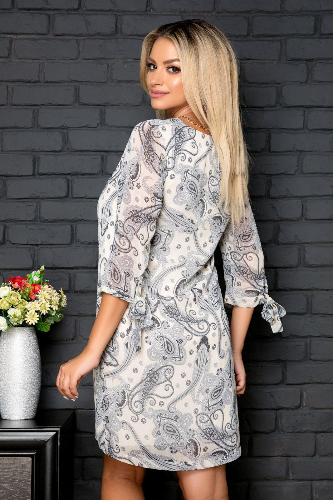 Ιβουάρ Φόρεμα Με Κολιέ Gilda 8063 1