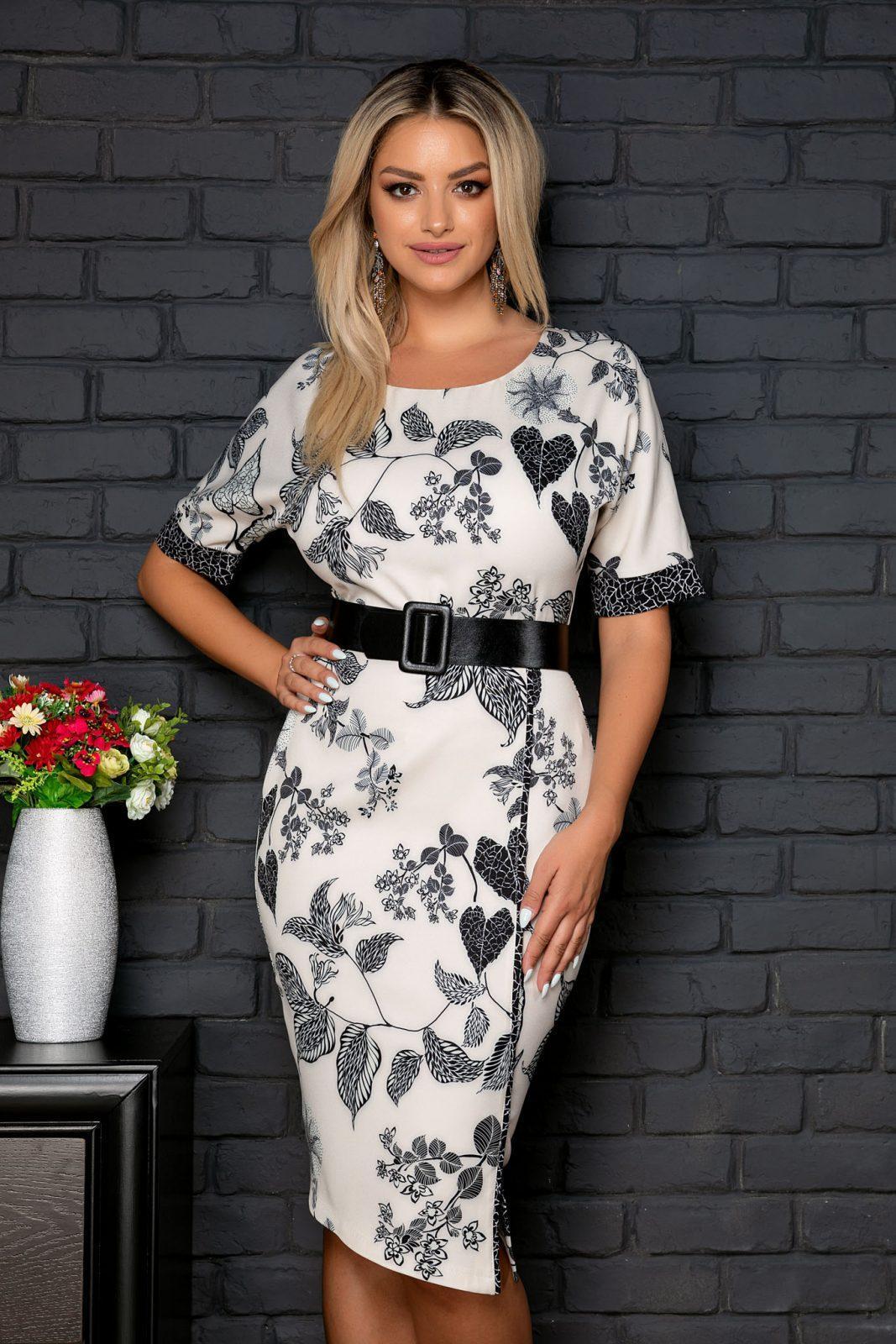 Lena Ecru Dress