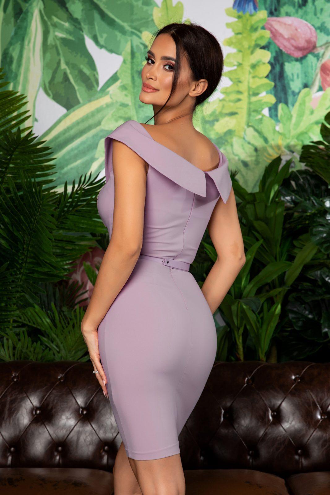 Λιλά Φόρεμα Σε Εφαρμοστή Γραμμή Edwina 8073 1