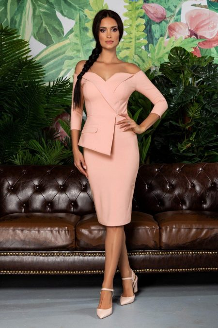 Klayre Peach Dress