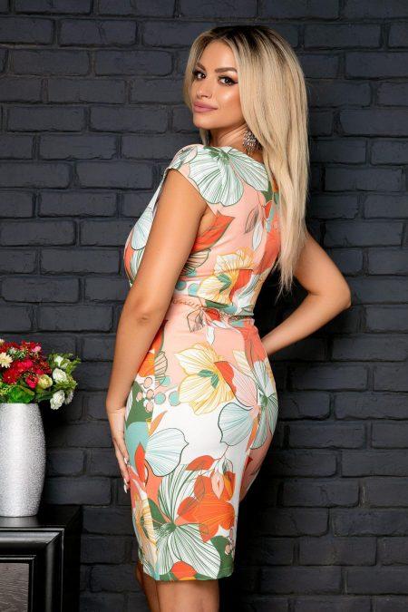Κρουαζέ Φόρεμα Φλοράλ Ligia 8030