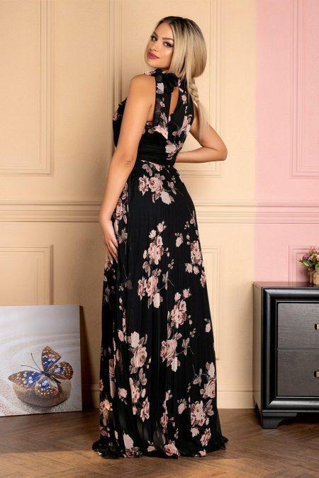 Μαύρο Maxi Φόρεμα Floral Amarys 7941