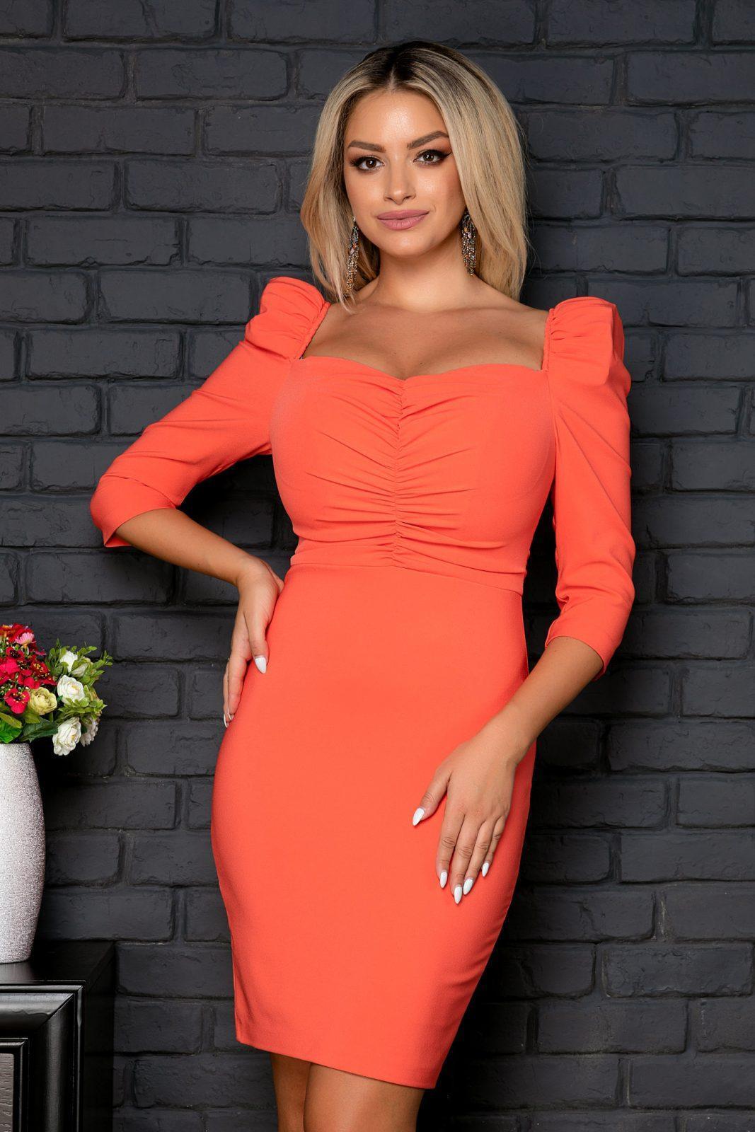 Amaya Coral Dress