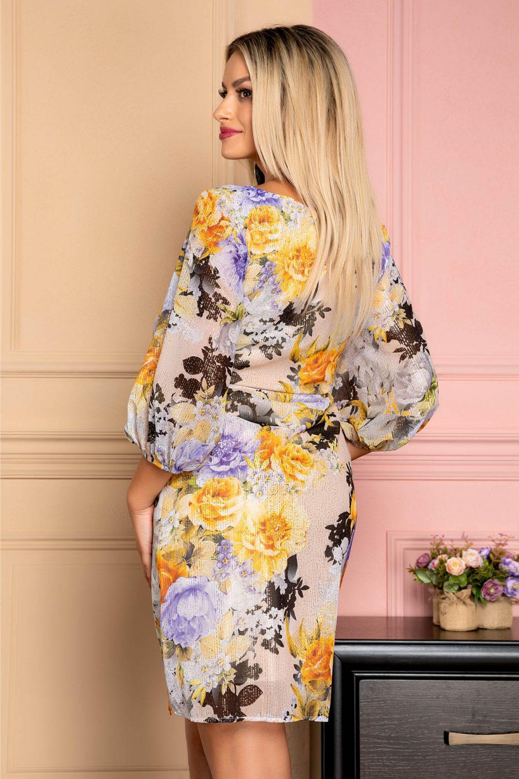 Φλοράλ Φόρεμα Με Ζώνη Florens 8021