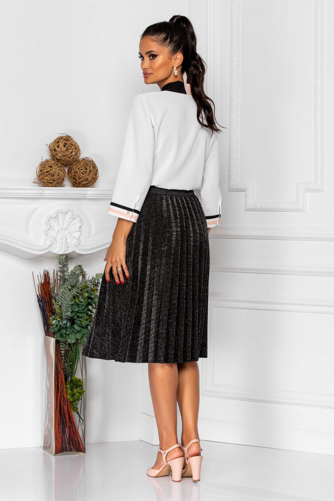 Λευκή Μπλούζα Με Γραβάτα Lya 8348