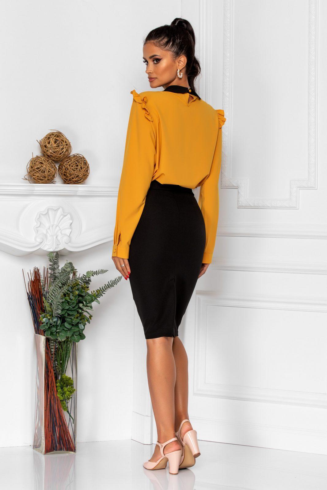 Κίτρινη Μακρυμάνικη Μπλούζα Lorra 8316