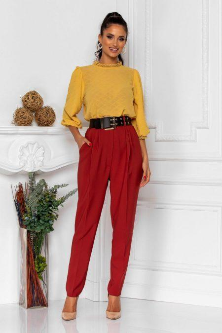 Ines Dark Yellow Blouse