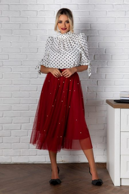 Hety Burgundy Skirt