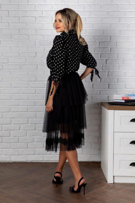 Τούλινη Φούστα Με Δαντέλα Stacey 8179