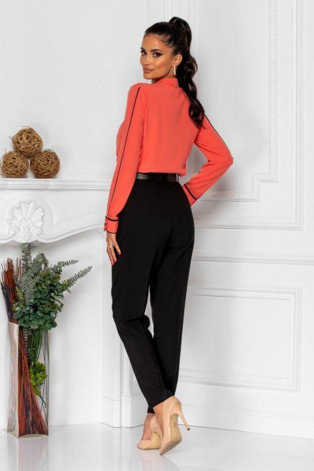 Μαύρο Παντελόνι Με Ζώνη Kamari 8371