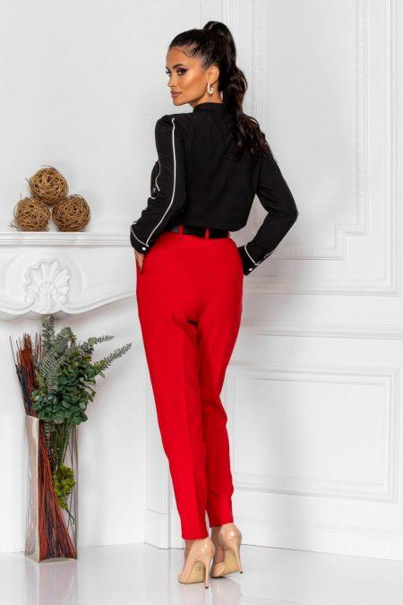 Κόκκινο Παντελόνι Με Ζώνη Kamari 8370