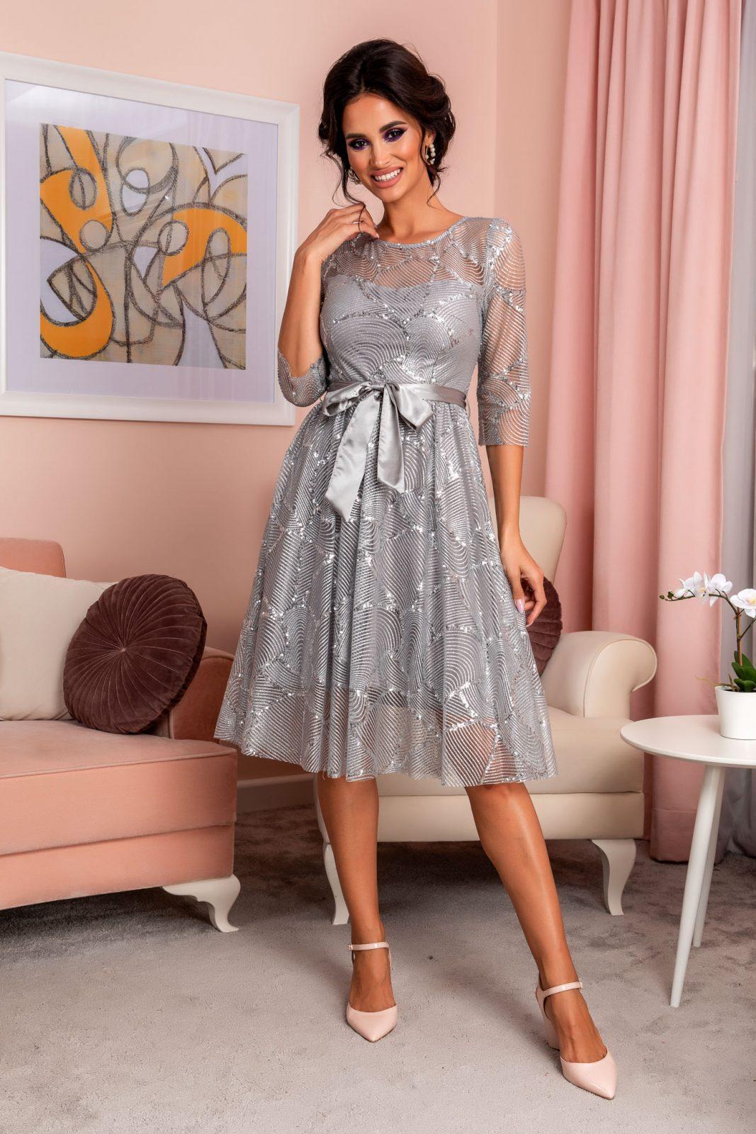 Rosemary Silvery Dress