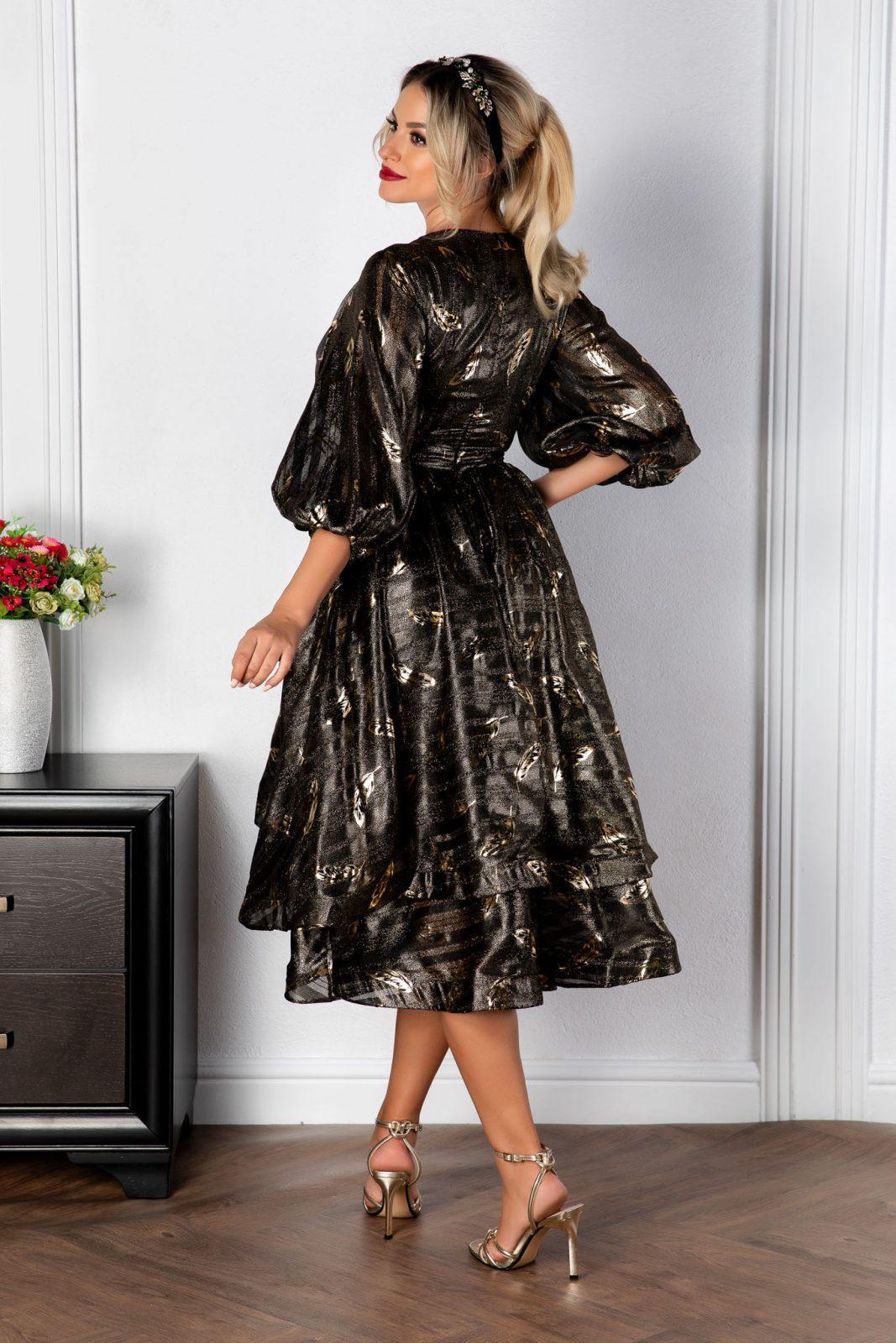 Μίντι Βραδινό Φόρεμα Romelia 8166 2