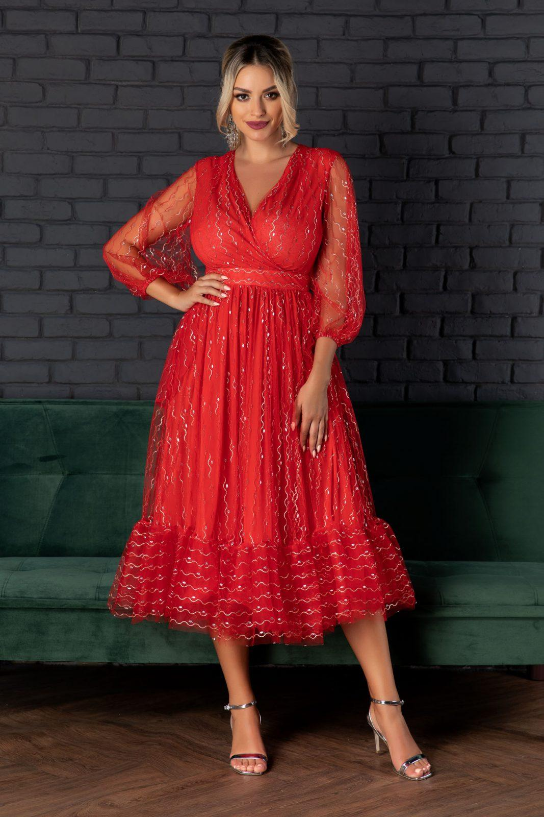 Ofelia Red Dress