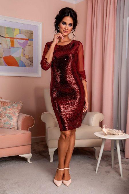 Κόκκινο Βραδινό Φόρεμα Ronnia 8226