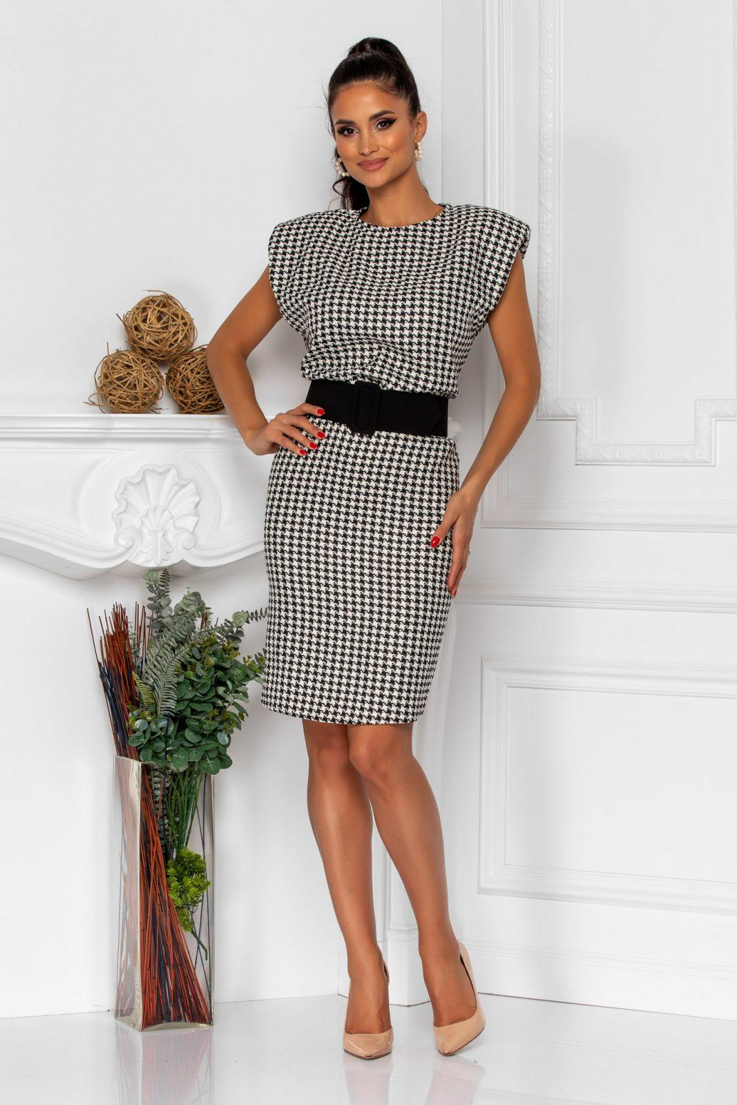 Καρό Φόρεμα Με Βάτες Tulya 8287