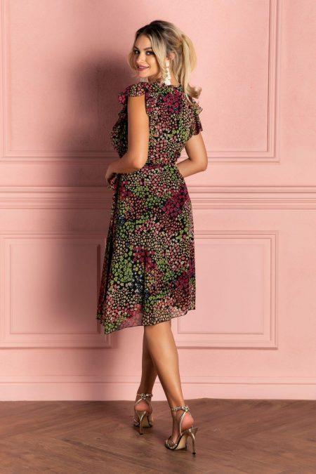 Μίντι Πράσινο Κρουαζέ Φόρεμα Heidy 8087