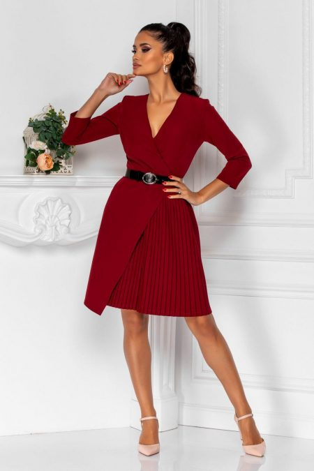 Jenny Burgundy Dress