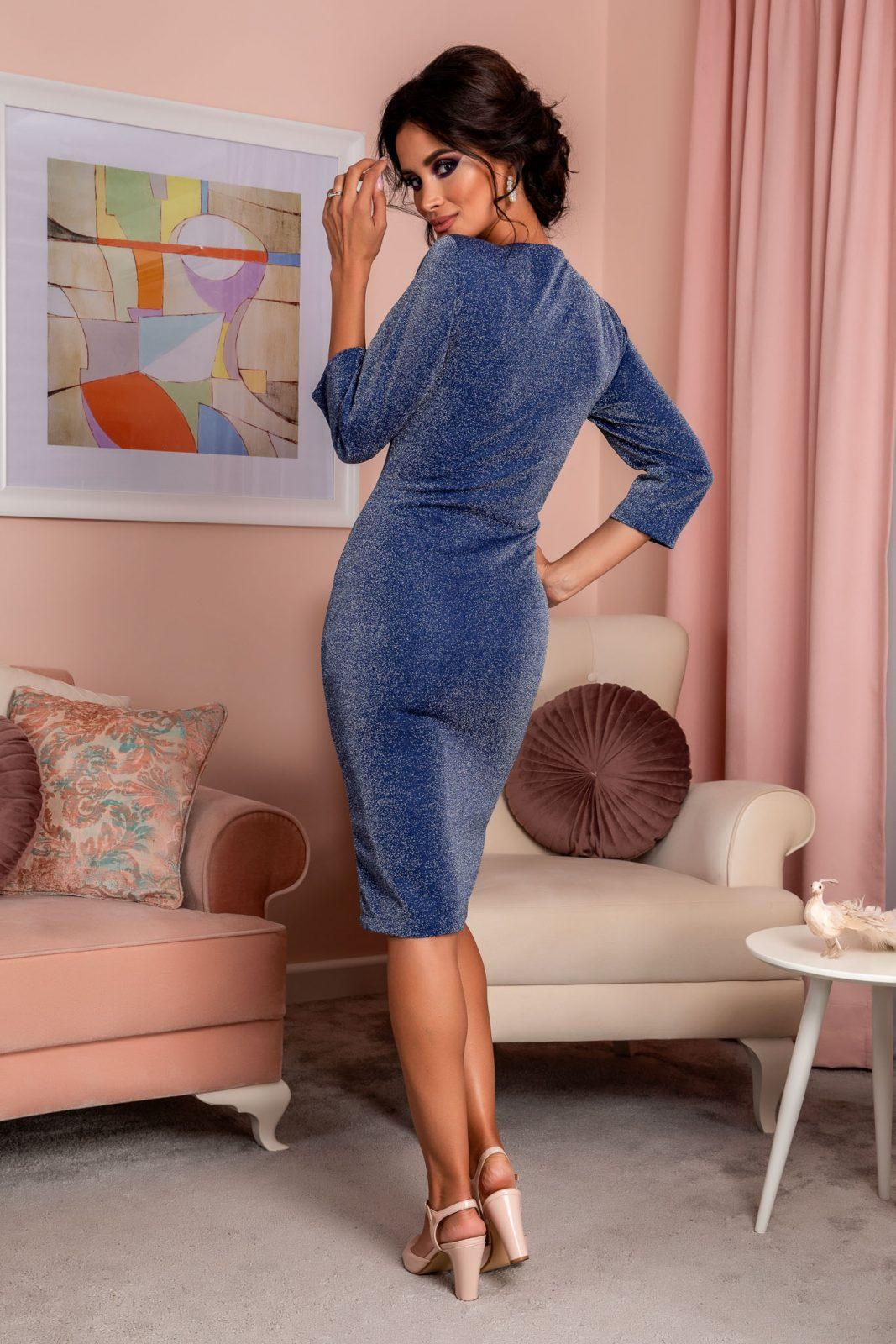 Μπλε Κρουαζέ Φόρεμα Relya 8252 1
