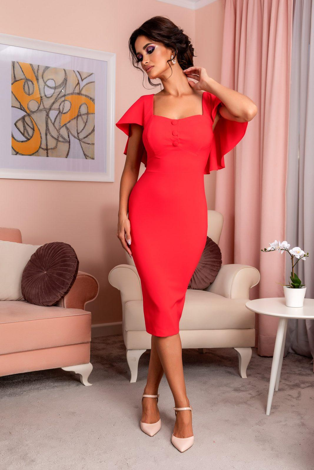 Gladys Coral Dress