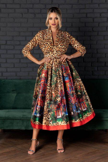 Francesca Animal Print Dress
