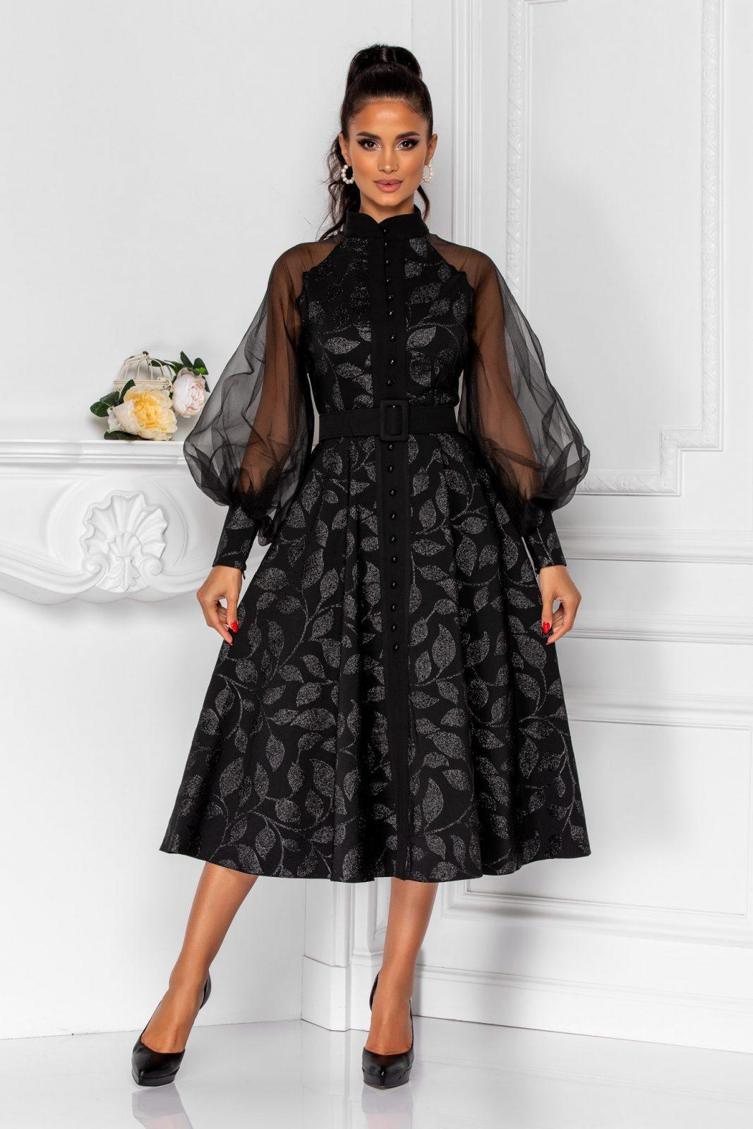Divya Black Dress