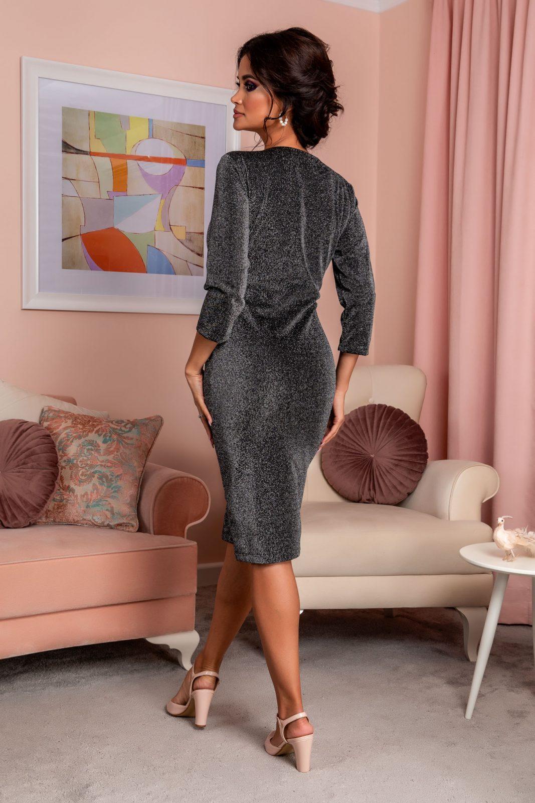 Μαύρο Κρουαζέ Φόρεμα Relya 8251 1