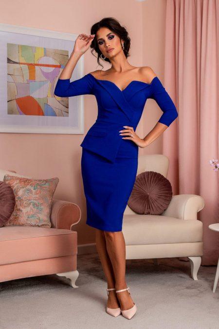 Klayre Royal Blue Dress
