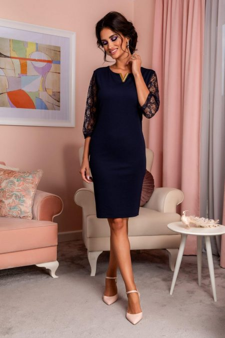Trysha Navy Dress