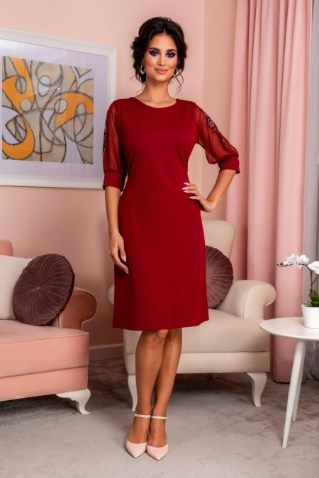 Ryna Burgundy Dress