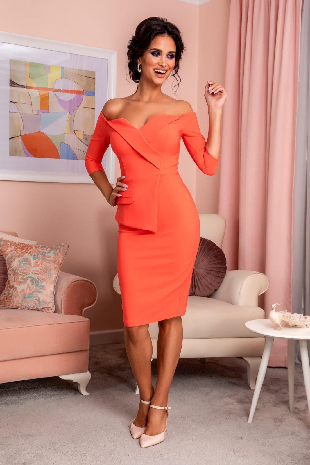 Klayre Coral Dress