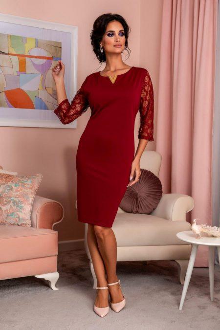 Trysha Burgundy Dress