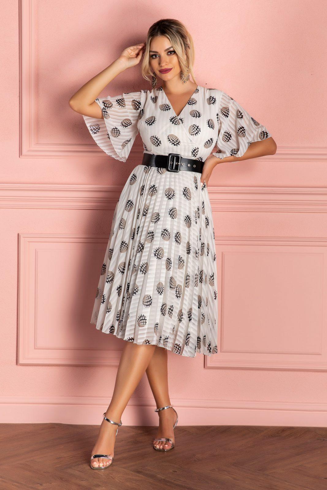 Cerise Ivory Dress