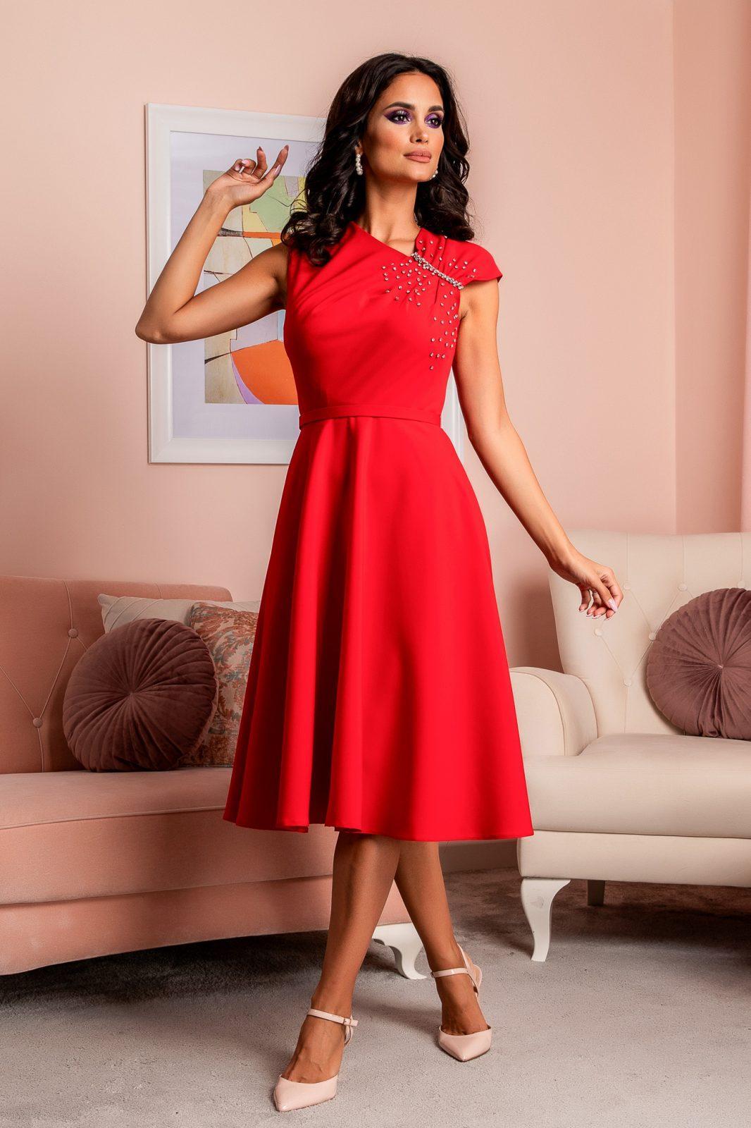 Oxana Red Dress