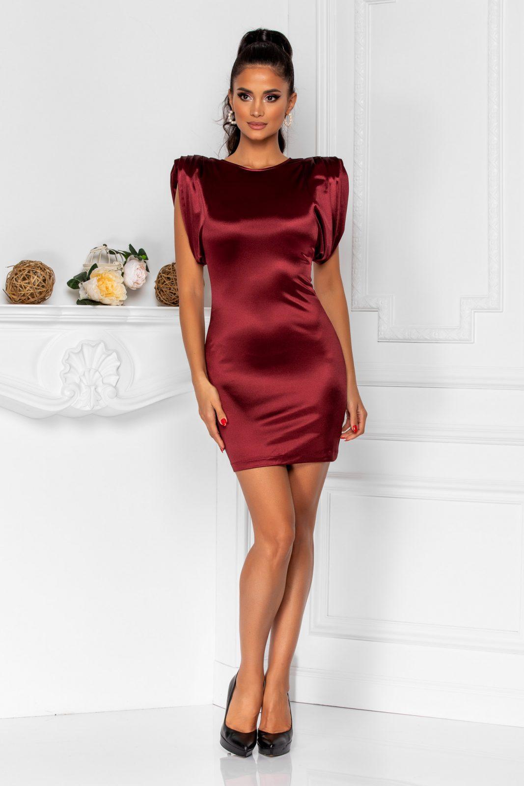 Sensy Burgundy Dress