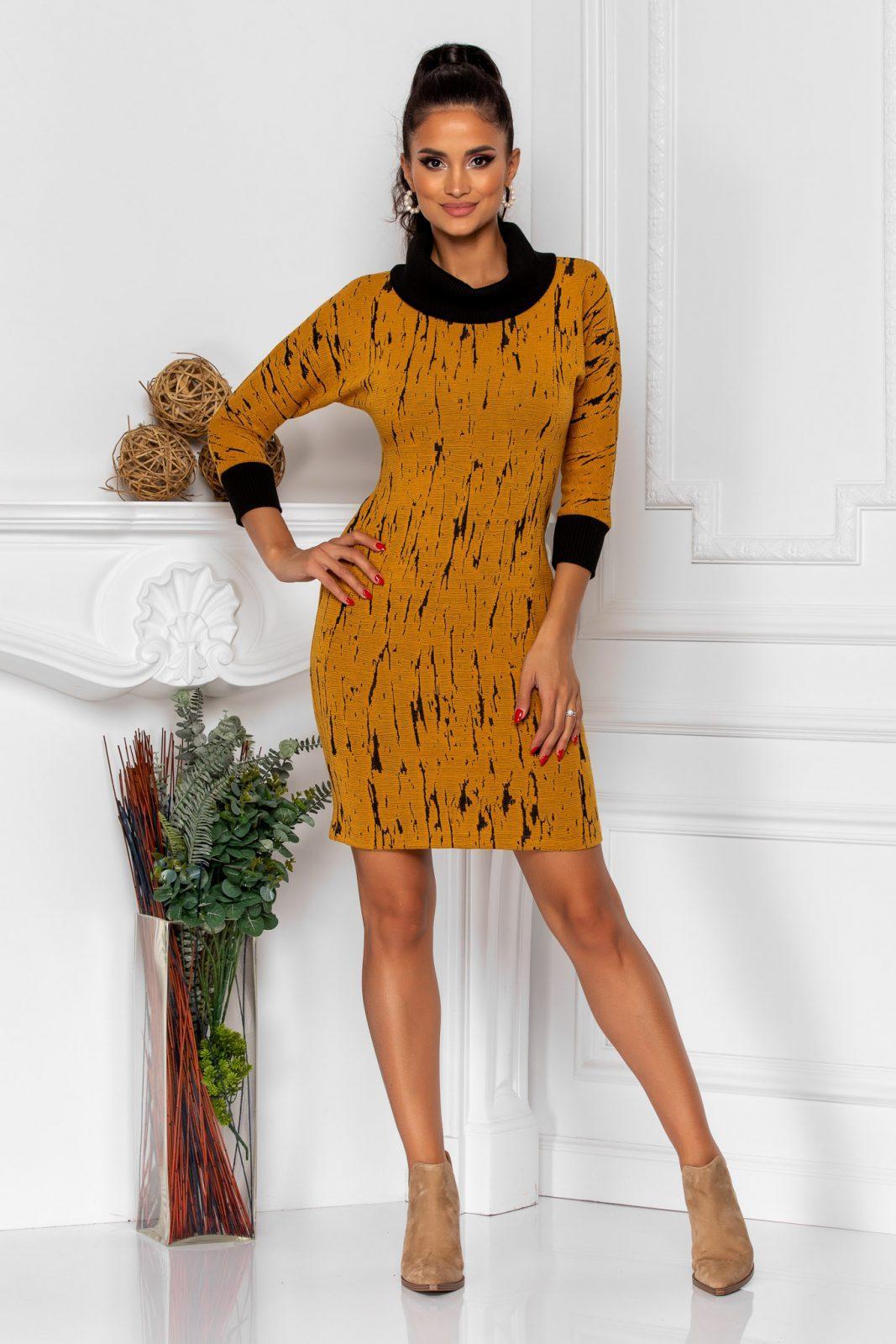 Jana Dark Yellow Dress