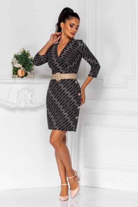 Berta Black Dress