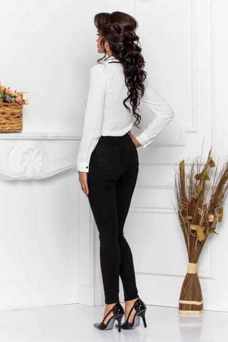 Λευκή Μπλούζα Με Γραβάτα Lexy 8604