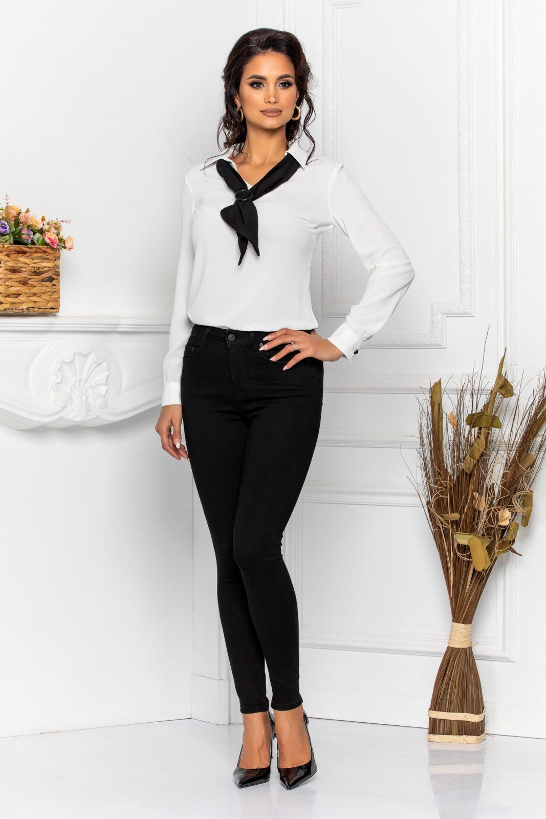 Λευκή Μπλούζα Με Γραβάτα Lexy 8604 2