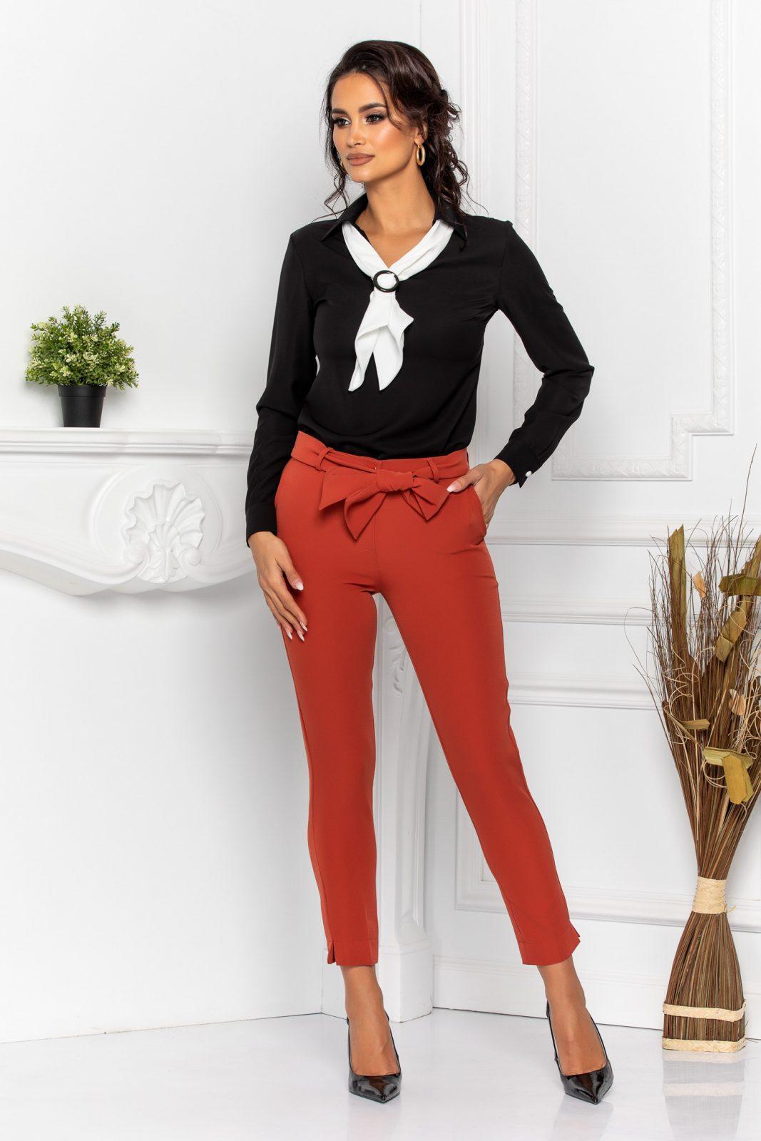 Μαύρη Μπλούζα Με Γραβάτα Lexy 8601 2